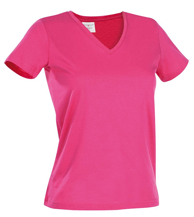 Евтина Дамска тениска с остро деколте