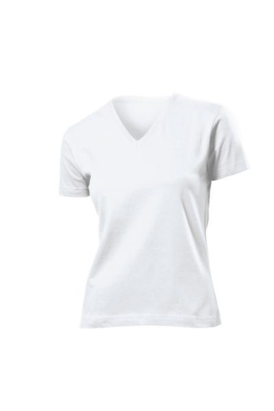 Бели памучни дамски тениски