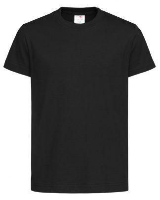 Черни едноцветни Детски тениски