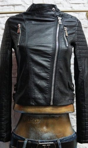 Кожени дамски якета изчистен модел