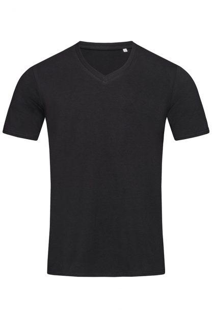 Мъжка вталена тениска с остро деколте- мъжки тениски