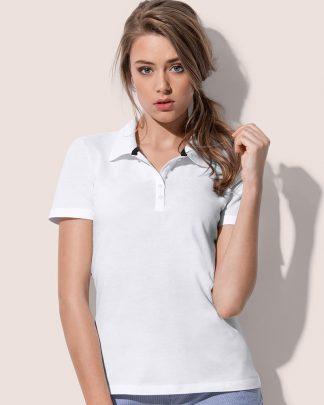 Дамски тениски с яка тип поло, памучни дамски тениски с яка