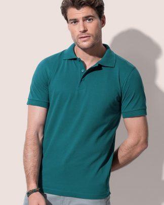 Мъжка тениска с яка тип поло, едноцветни мъжки тениски с яка