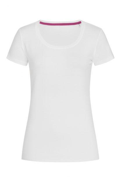 Дамски памучни едноцветни тениски, дамски тениски обло деколте