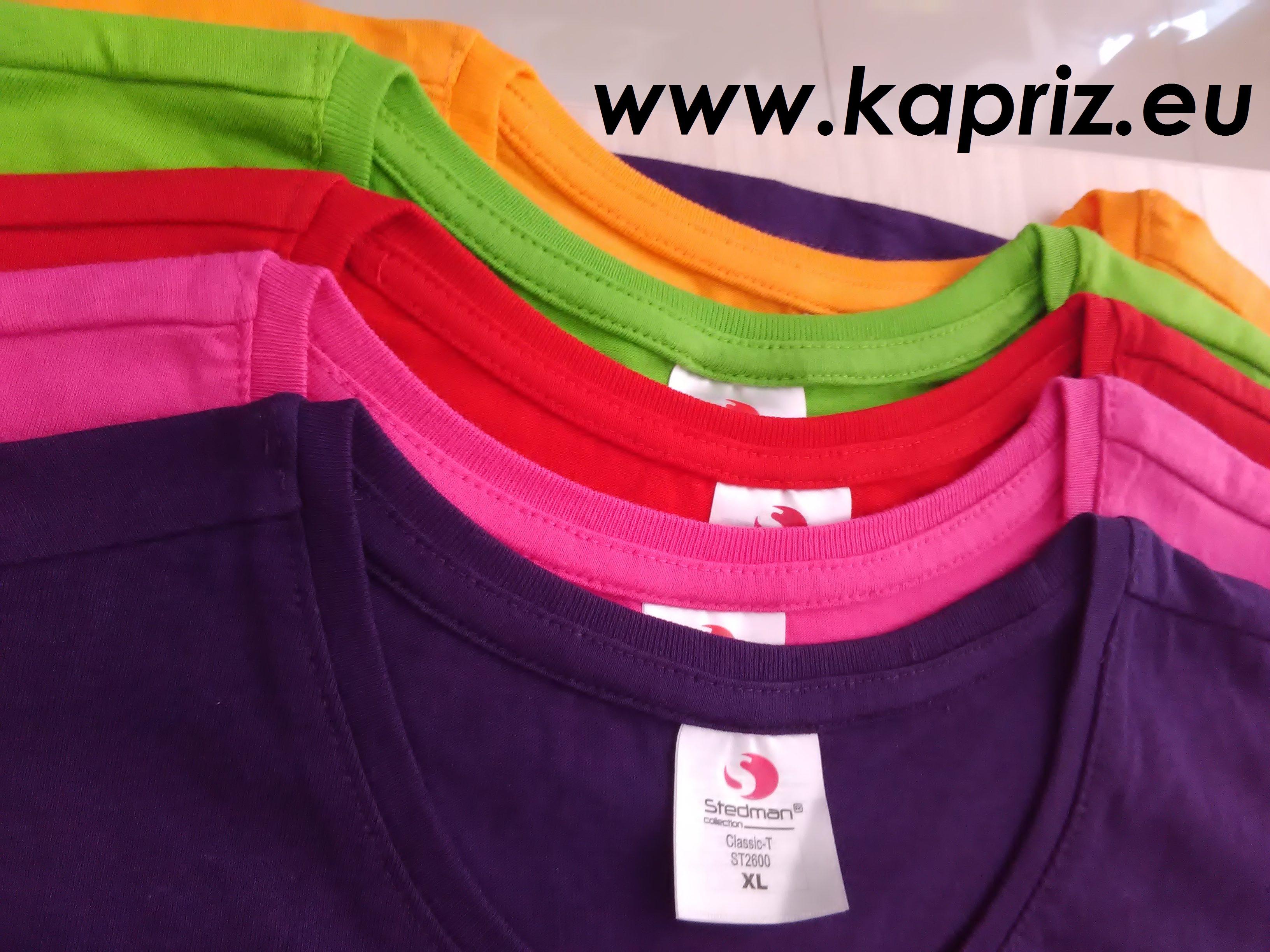 Памучни едноцветни тениски обло деколте